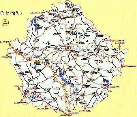 Mapa Provincia De Cuenca.Donde Estamos